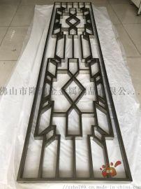 拉丝青古铜不锈钢屏风、花格双面满焊更加不易松动图