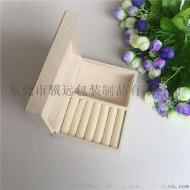 木质首饰盒复古印刷饰品收纳盒戒指项链展示包装盒直销