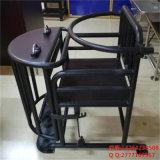 仿不鏽鋼鐵質審訊椅,鐵質方形審訊椅,鐵製方形審訊用椅