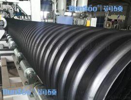 徐州DN300PE钢带增强螺旋波纹管PE100