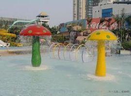 儿童戏水小品雨蘑菇水上乐园设备