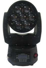新品 7颗10W带调焦LED摇头染色灯