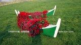 江南木船手工制作歐式養花船景觀木船休閒手劃船