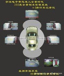 宇鸿360度全景倒车影像 4路车载监控+1路倒车 24小时停车监控