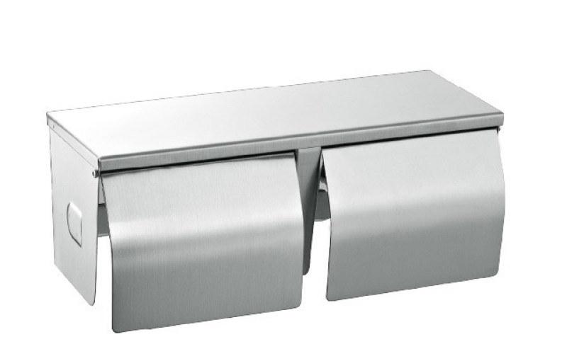 不锈钢上下双卷纸巾架、同时放两卷纸的厕纸盒