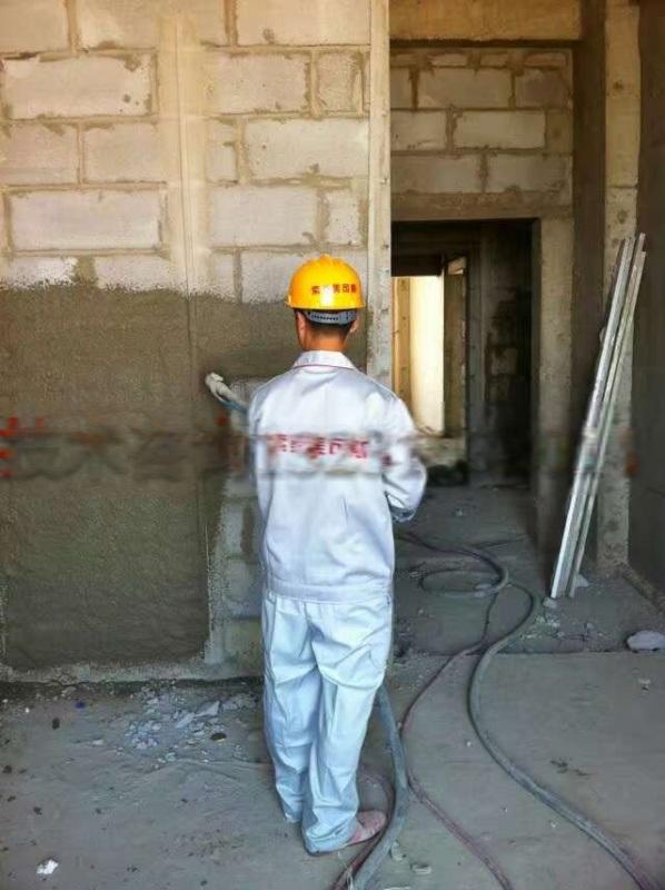 小型水泥砂浆喷浆机喷砂浆比人工抹灰能快多少