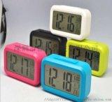 LCD电子钟  声控闹钟  夜光聪明钟