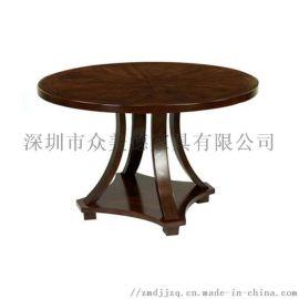 定做酒楼实木圆桌,转盘桌
