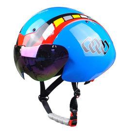 公路自行车竞速场地比赛计时TT盔自带风镜近视者福音