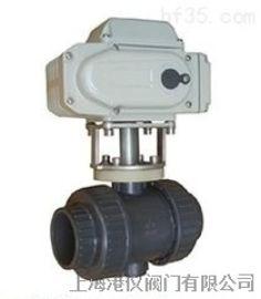 上海港仪PVC双由令电动球阀SQ961F  品质阀门厂家