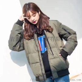 韩版保暖休闲羽绒服运动装加工定制