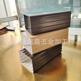 北京方形雨水管哪里有生产的  铝合金落水管厚度规格