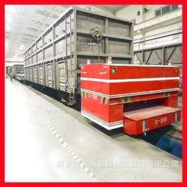 定制 牵引车 遥控牵引平板搬运车 蓄电池供电轨道牵引车