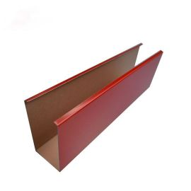 厂家直销集成吊顶木纹铝方通天花装饰材料规格定制