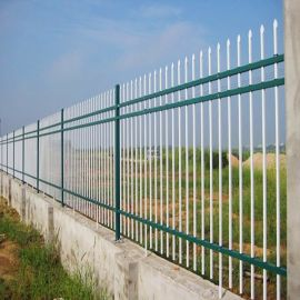 锌钢护栏围墙栅栏小区学校工厂庭院栏杆四横杆围墙栏杆