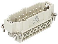 16芯 公芯 HE-016-M 螺钉连接 重载连接器 16A/500V