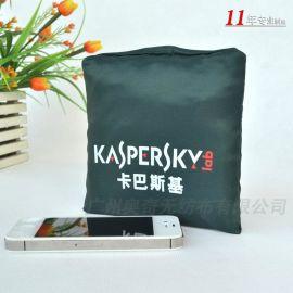 环保手提钱包式折叠袋子彩色尼龙布牛津布购物袋收纳袋子订制定做