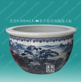 手工陶瓷大缸 青花瓷鱼缸直销厂家