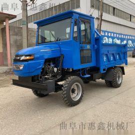 厂家直销四轮驱动拖拉机-拉石渣工程柴油四不像
