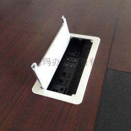 唯立玛VF-003翻盖式多功能桌面插座 会议桌多媒体插座