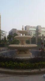 小区园林景观流水雕塑仿砂岩水钵喷泉