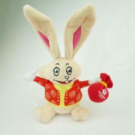 定做新款13cm吉祥兔毛绒玩具,小兔子公仔挂件 水晶超柔