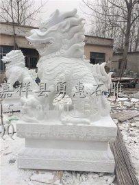 石雕麒麟、石雕貔貅加工制作厂家、汉白玉、青石麒麟