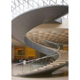 酒店旋转楼梯 异形玻璃楼梯 大型螺旋楼梯