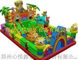 心悦厂家新款儿童充气城堡,加厚PVC材质,销量**的充气蹦蹦床滑梯