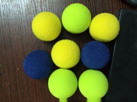 供应服装水洗胶球炒雪花球棉球黑胶球