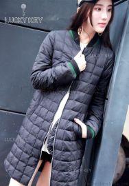 名品折扣女装17年新款轻薄羽绒服批发销售