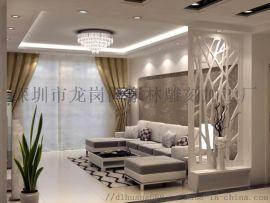 南京雕刻厂家专业定制客厅小隔断装饰板3D镂空板