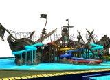 儿童水上海盗船,泳池滑滑梯,大型喷水滑梯戏水小品