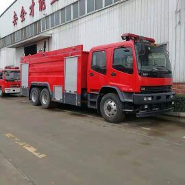 五十铃后双桥12吨水罐消防车生产厂家直销