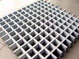 白色鋁格柵吊頂丨木紋色格子吊頂廠家