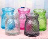 歐式簡約地中海彩色菱形玻璃水培花瓶客廳臥室擺件玻璃插花花瓶