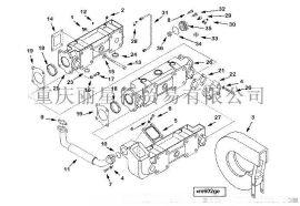 重慶康明斯發動機K38/K50水套式排氣管3628659/3629053/3015544/206659/AR45762