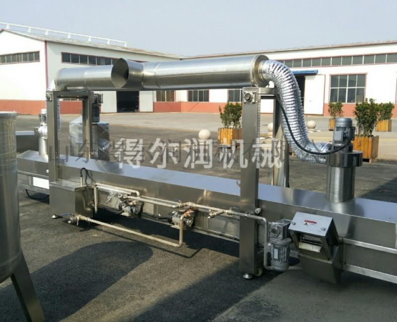 裹浆地瓜条油炸机设备 黄金地瓜条油炸生产线