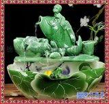 陶瓷客廳家居工藝品創意噴泉 招財風水輪魚缸加溼器流水擺件