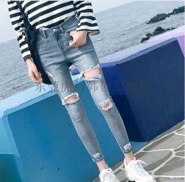 黑龙江新款小脚裤摆地摊便宜牛仔裤特价弹力牛仔裤