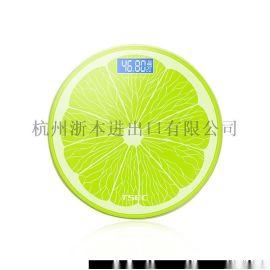 乐奥可充电柠檬秤电子称体重秤家用健康人体秤  成人  称