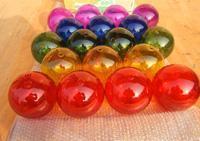 玻璃球 喷色空心玻璃球