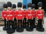 玻璃鋼軍人雕塑仿真鑄銅紅軍人物雕塑旅遊區迎賓擺件