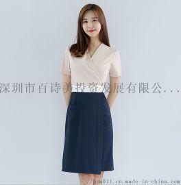 厂家直销韩版美容师工作服连衣裙女