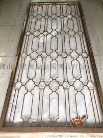 镜面玫瑰金不锈钢激光屏风、精装金属隔断打造优雅装饰