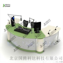 厂家定制演播桌  播音桌电视台导播桌主持人播音台
