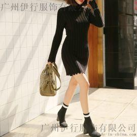 拓谷**尾货品牌女装批发网折扣女装 北京服装尾货批发大库藏蓝色棉衣