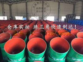 广西环卫大铁桶 挂车圆形铁皮垃圾桶厂家