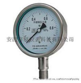 不锈钢压力表齐新Y-B不锈钢压力表60Mpa压力表
