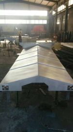 沧州金乐定制生产郑州卧式车床防护罩 伸缩钢板防护罩